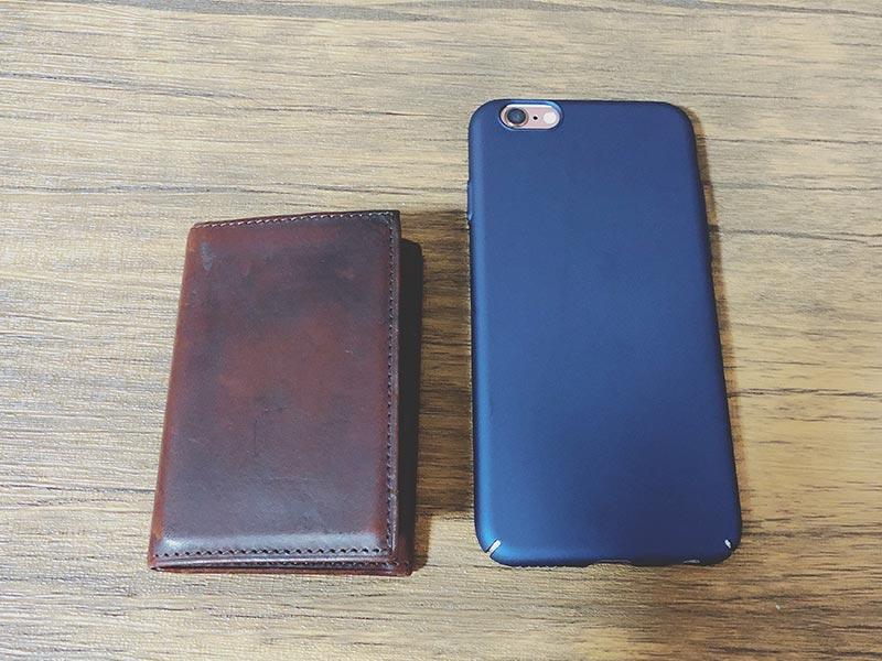 """""""iphoneとPRESSoのサイズ比較"""""""