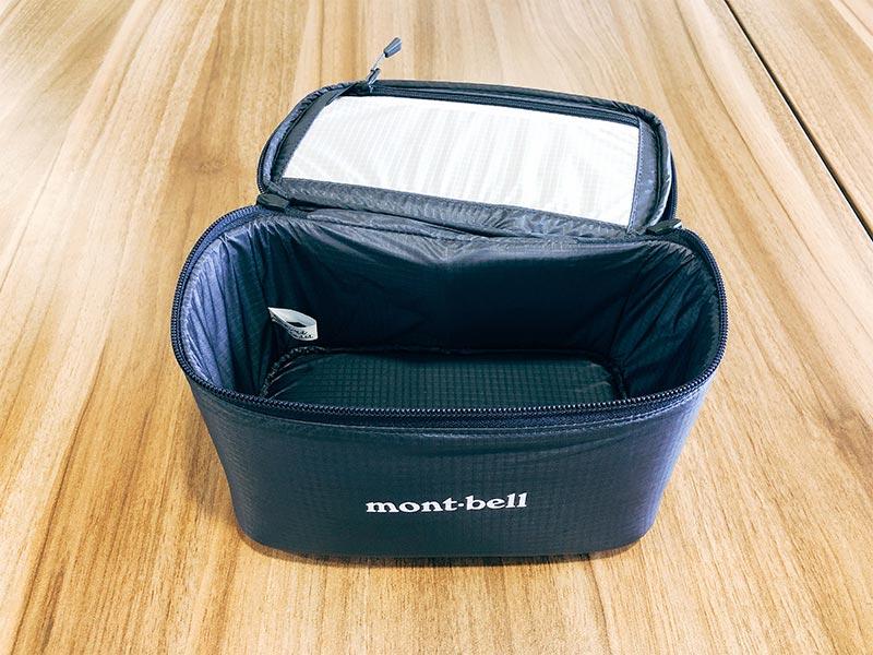 モンベル(mont-bell)のインバーバッグの蓋の写真