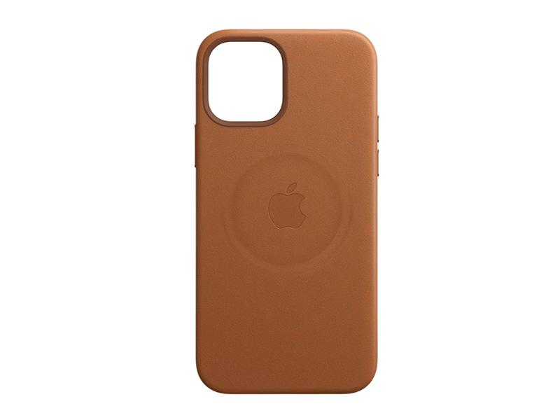 iPhone 12 mini用 Apple純正レザーケースでMagSafe充電した際の跡の写真