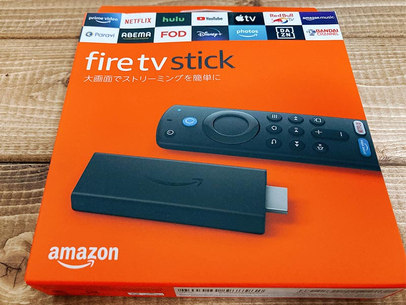 Fire TV Stickのパッケージの写真