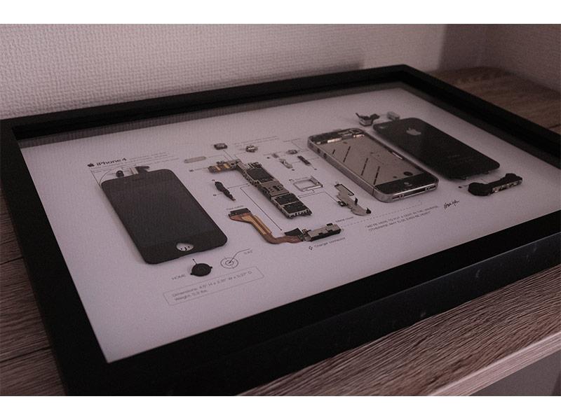 GRIDのiPhoneアートフレームの写真