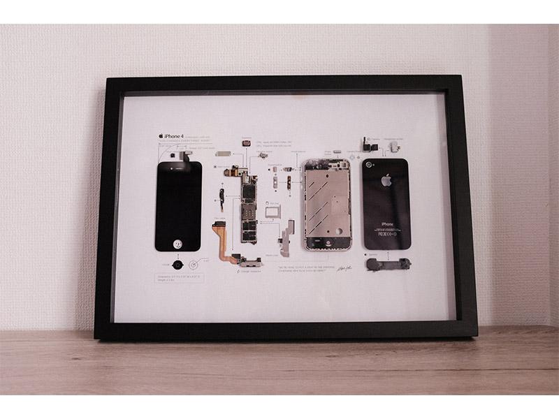 GRID iPhoneアートフレームの写真