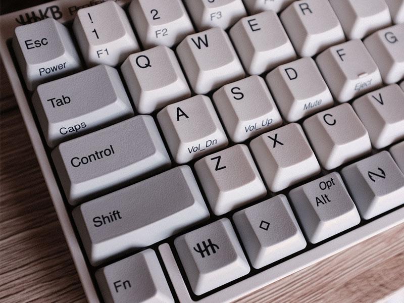 HHKB Professional HYBRID Type-Sのキートップの写真