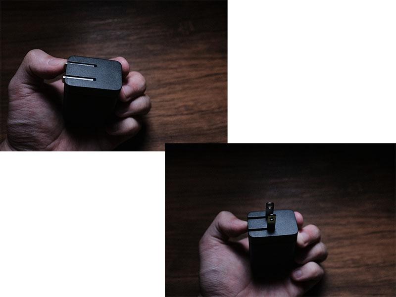「CIO-G65W1C」のプラグを開閉する写真