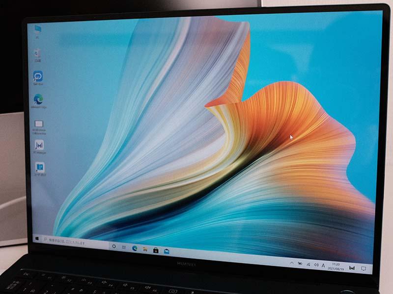 HUAWEI MateBook X Pro(2021)の液晶画面の写真