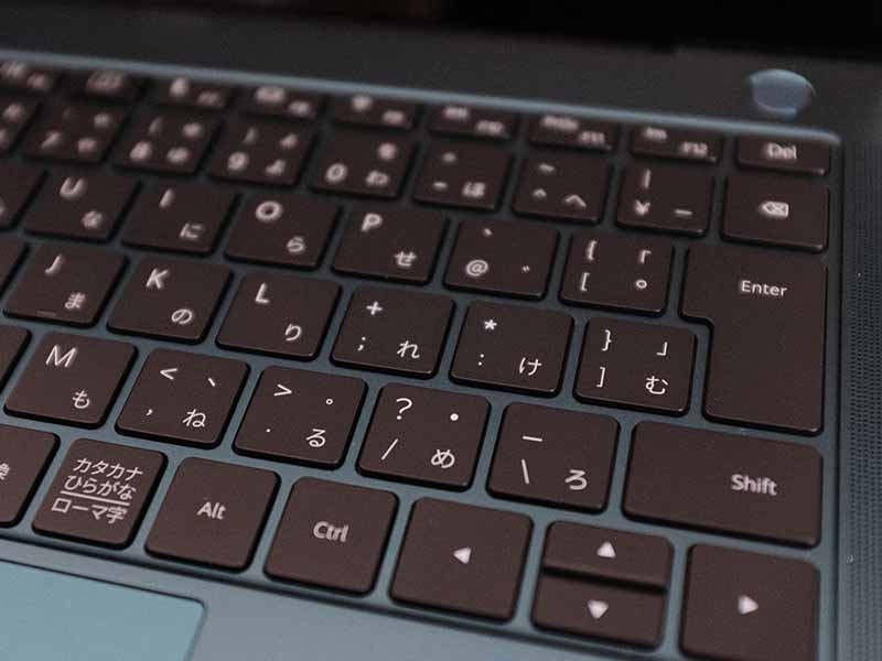 HUAWEI MateBook X Pro(2021)のキーボードの写真