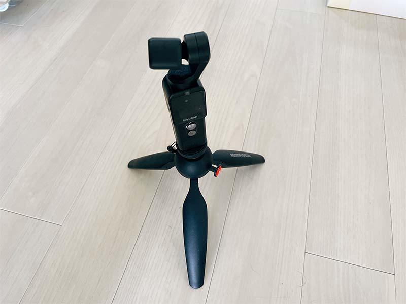 Feiyu Pocket 2に三脚を装着した写真