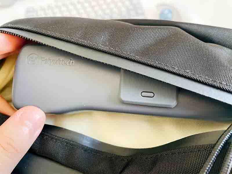 Feiyu Pocket 2をリュックに入れている写真